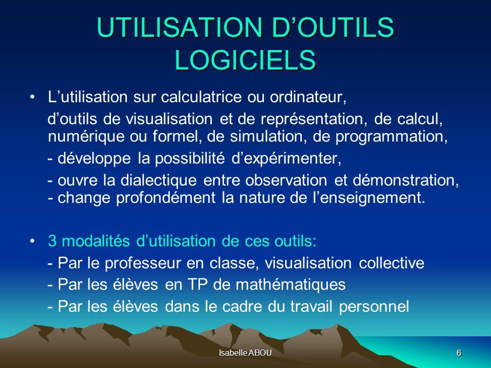 UTILISATION D'OUTILS LOGICIELS