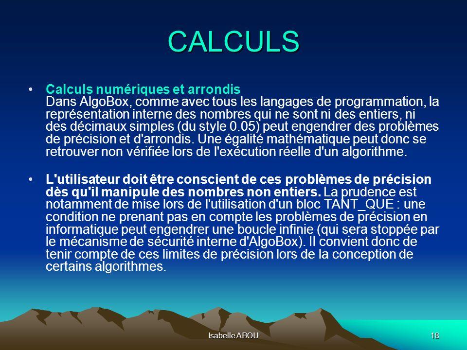 CALCULS