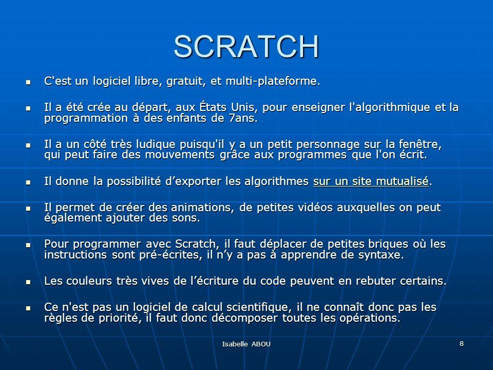 SCRATCH C est un logiciel libre, gratuit, et multi-plateforme.