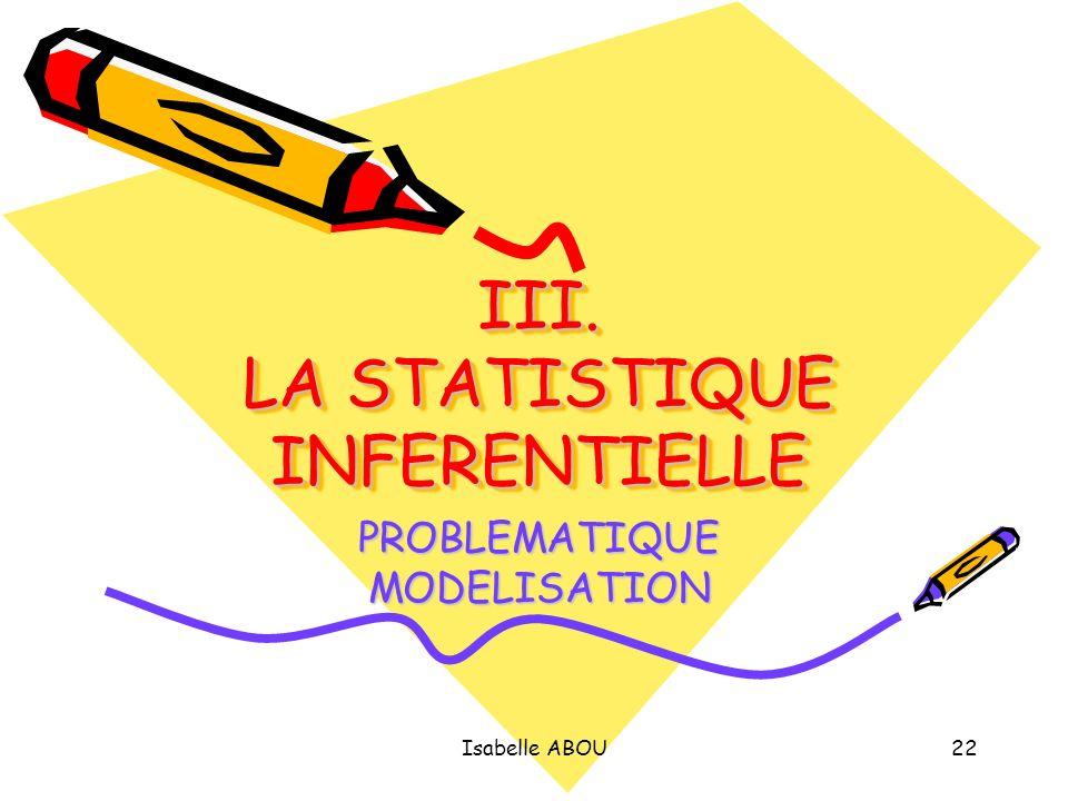III. LA STATISTIQUE INFERENTIELLE