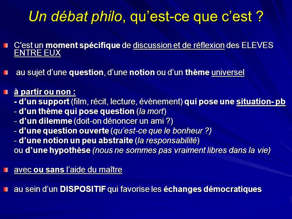 Un débat philo, qu'est-ce que c'est