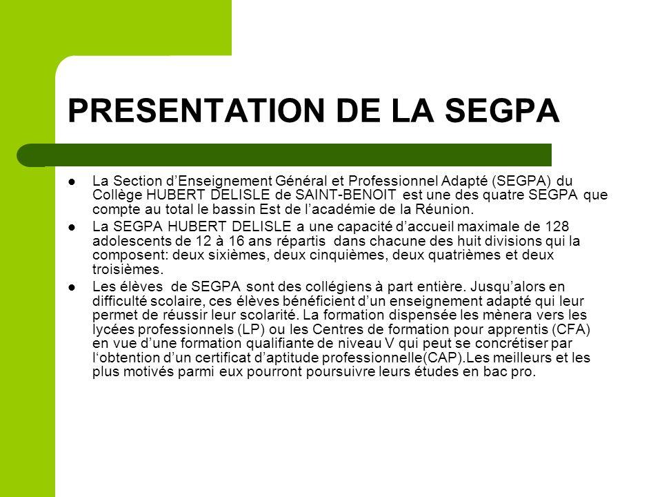 PRESENTATION DE LA SEGPA