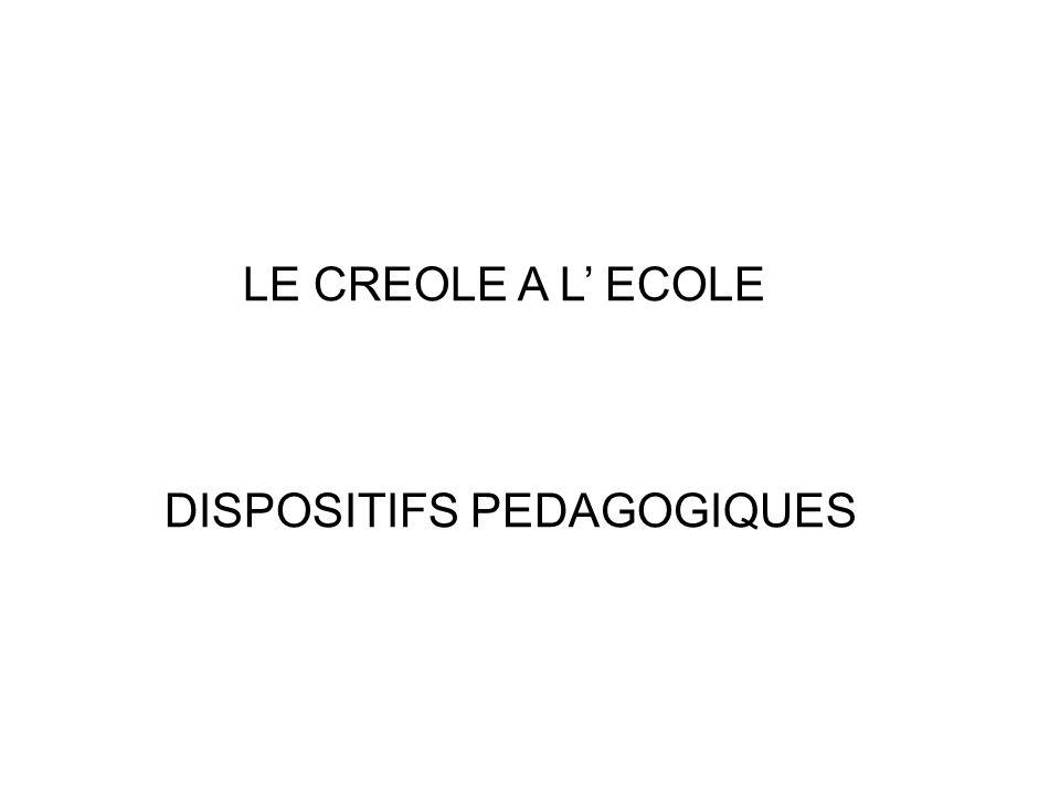 DISPOSITIFS PEDAGOGIQUES