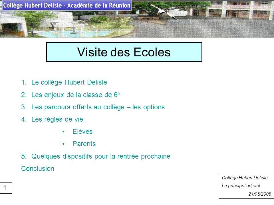Visite des Ecoles Collège Hubert Delisle Rentrée 2007