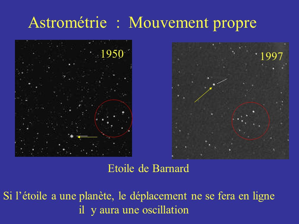 Astrométrie : Mouvement propre