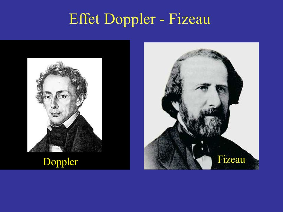 Effet Doppler - Fizeau Fizeau Doppler