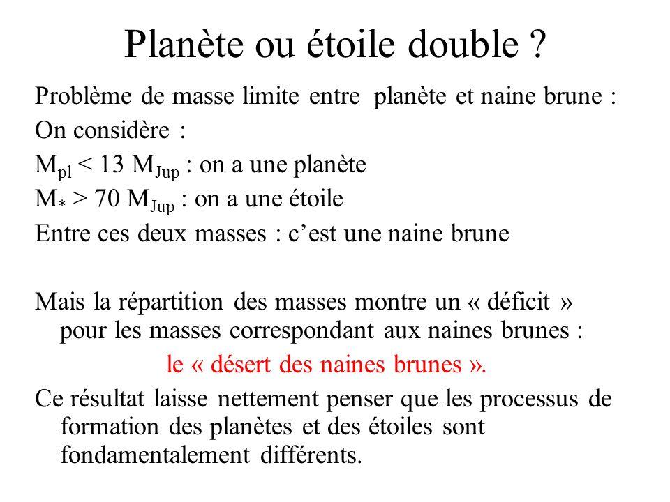 Planète ou étoile double