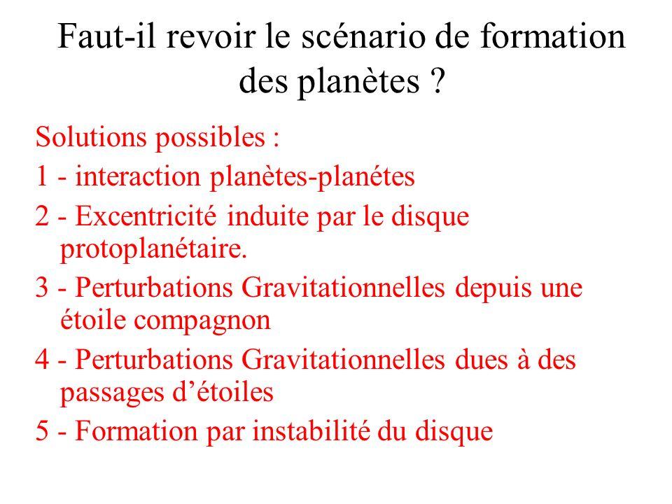 Faut-il revoir le scénario de formation des planètes