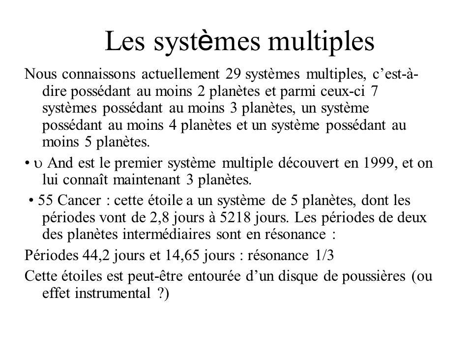 Les systèmes multiples