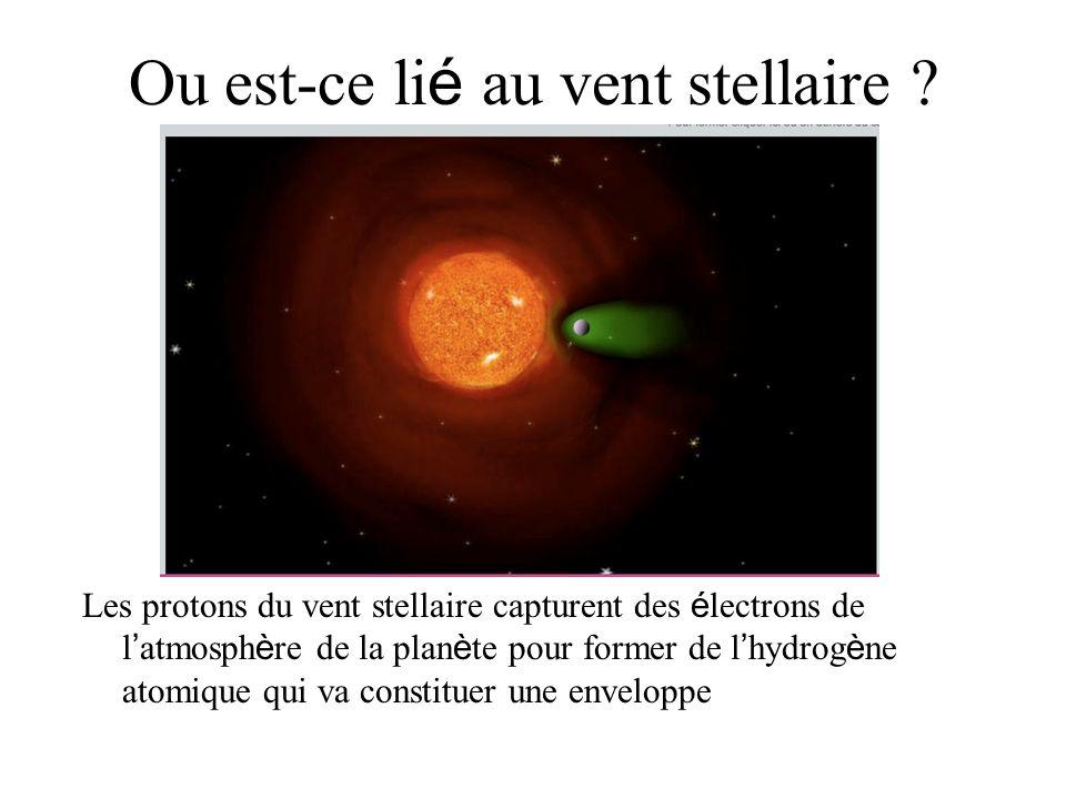Ou est-ce lié au vent stellaire