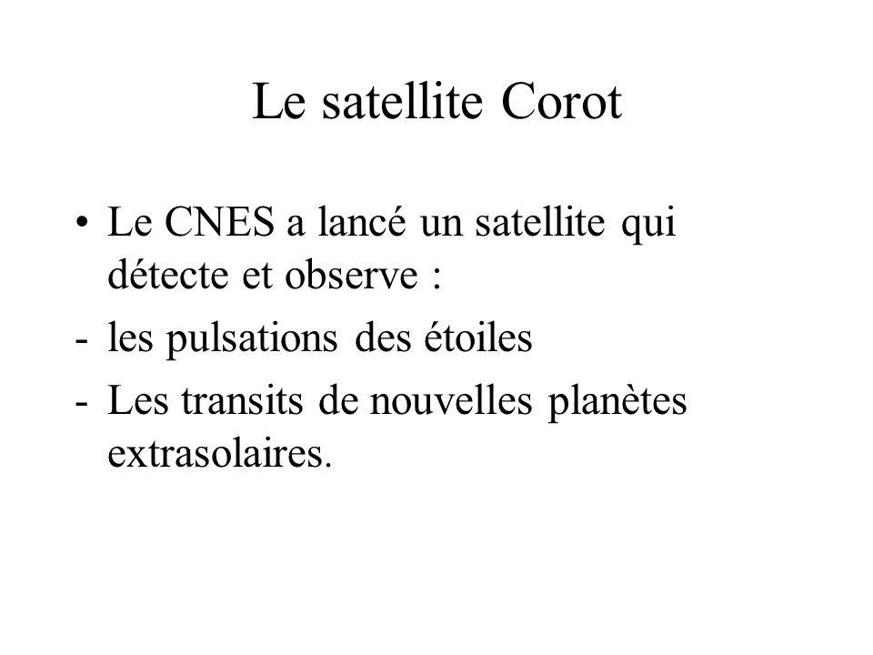 Le satellite Corot Le CNES a lancé un satellite qui détecte et observe : les pulsations des étoiles.