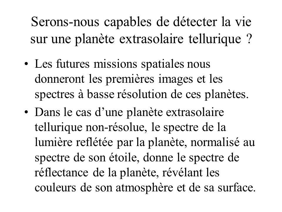 Serons-nous capables de détecter la vie sur une planète extrasolaire tellurique