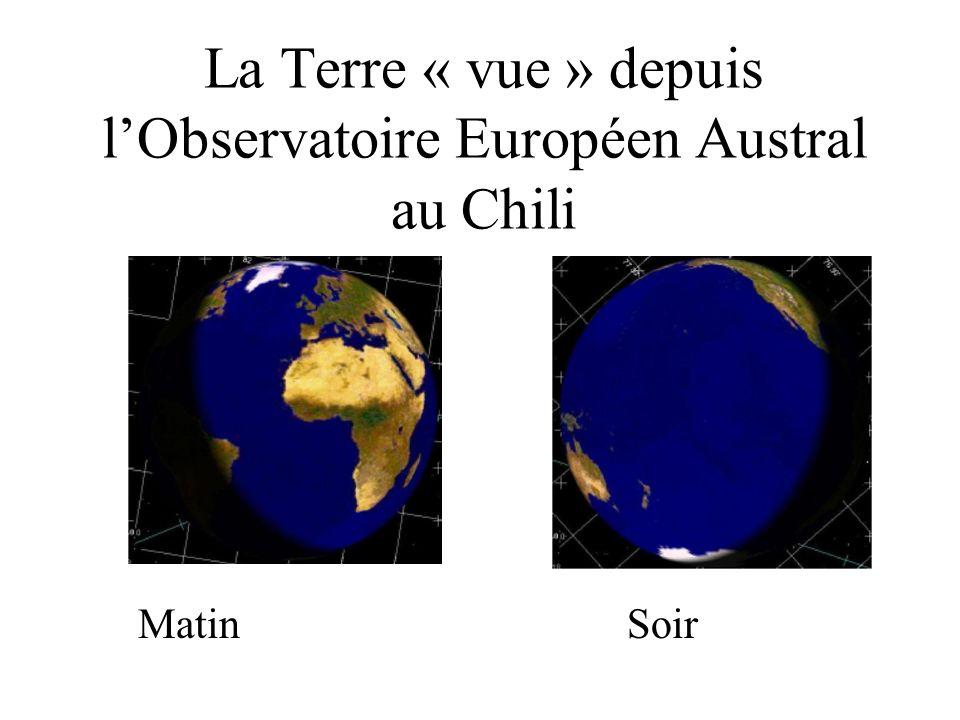La Terre « vue » depuis l'Observatoire Européen Austral au Chili