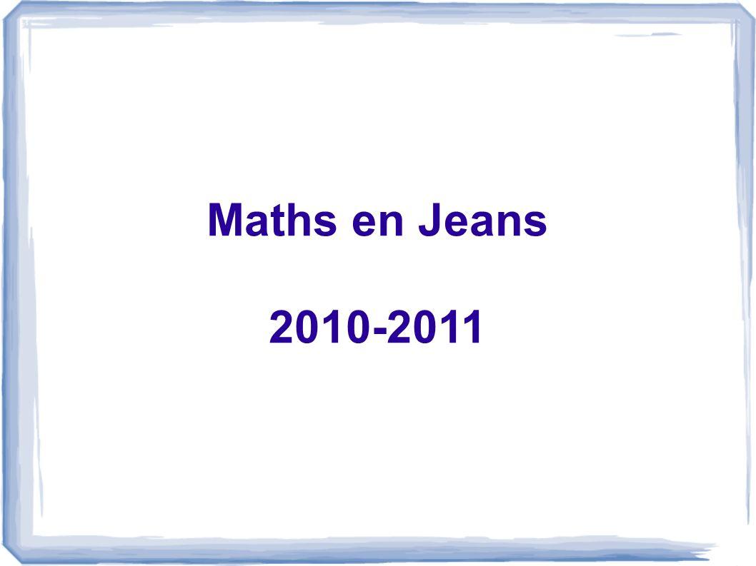 Maths en Jeans 2010-2011