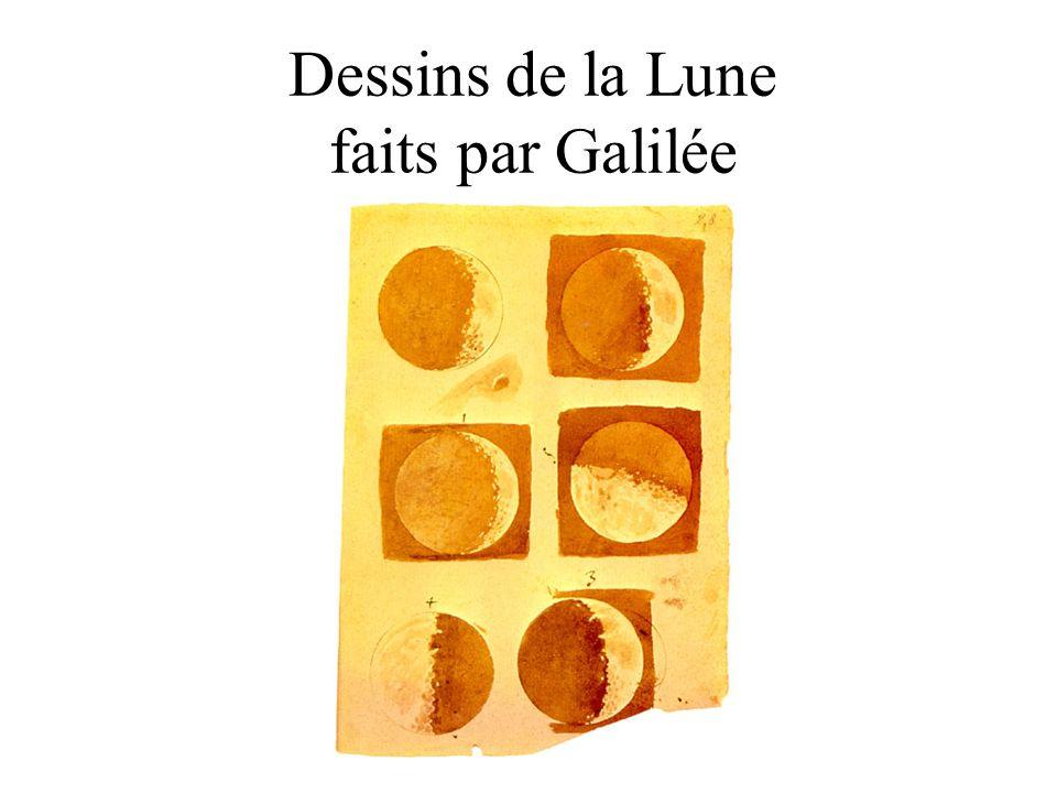 Dessins de la Lune faits par Galilée