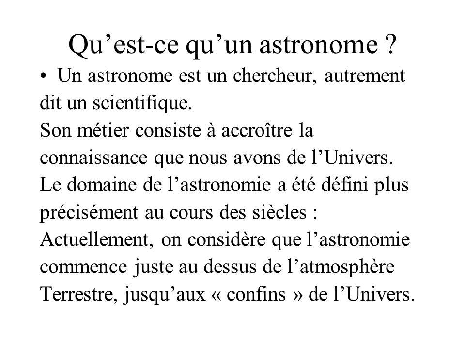 Qu'est-ce qu'un astronome