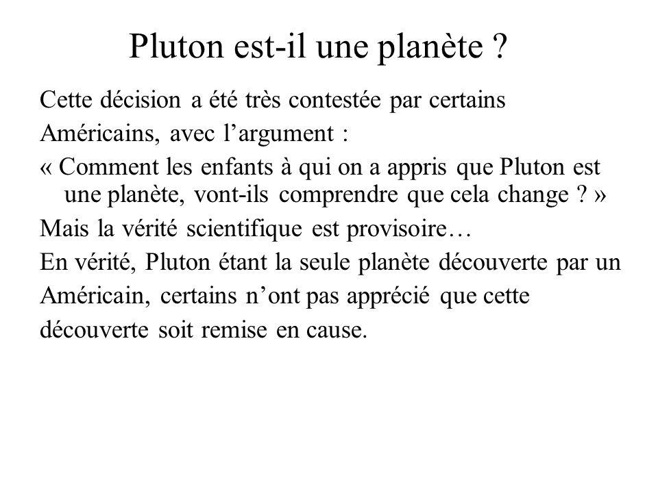 Pluton est-il une planète