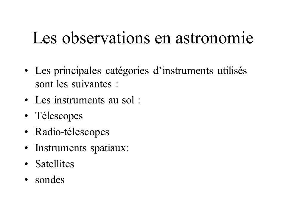 Les observations en astronomie