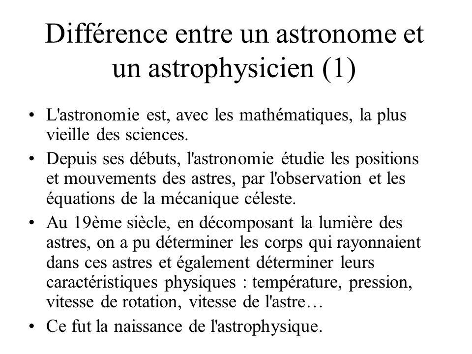 Différence entre un astronome et un astrophysicien (1)