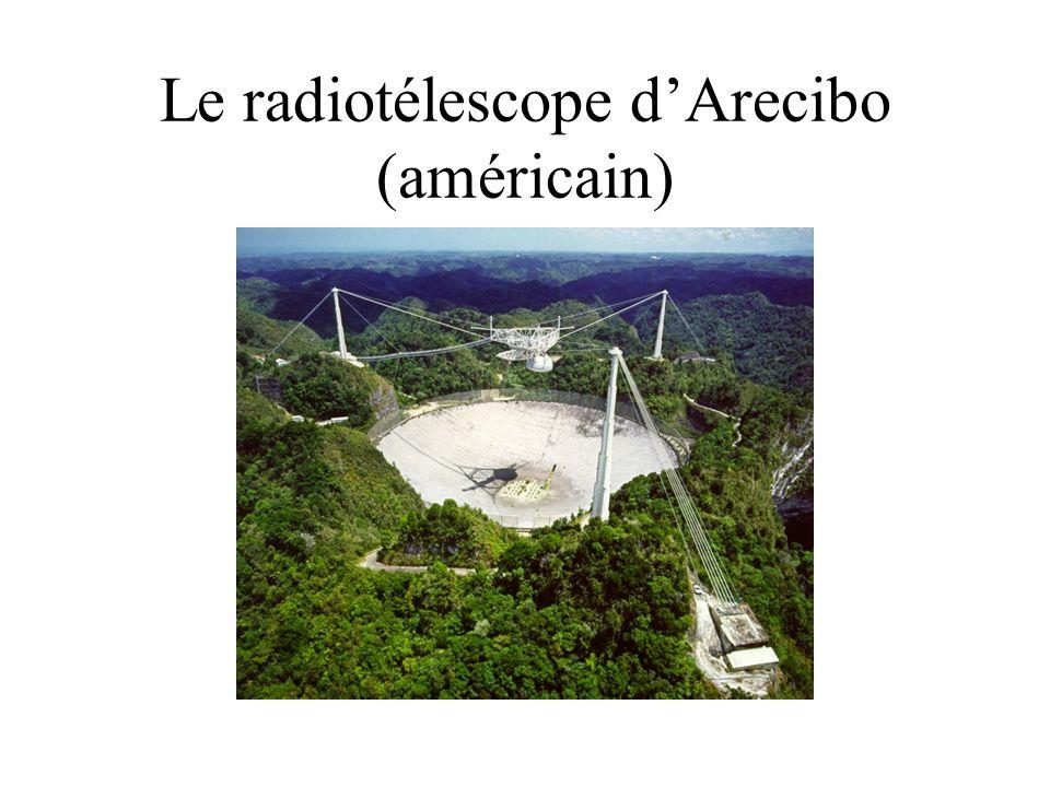 Le radiotélescope d'Arecibo (américain)