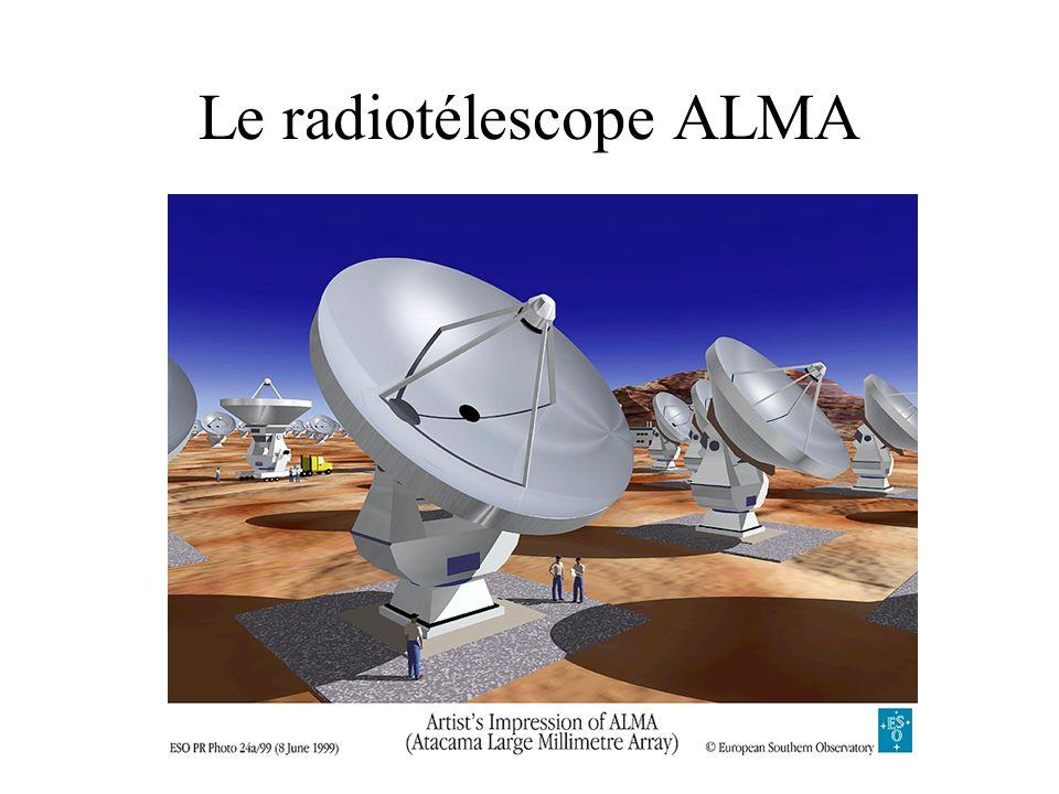 Le radiotélescope ALMA