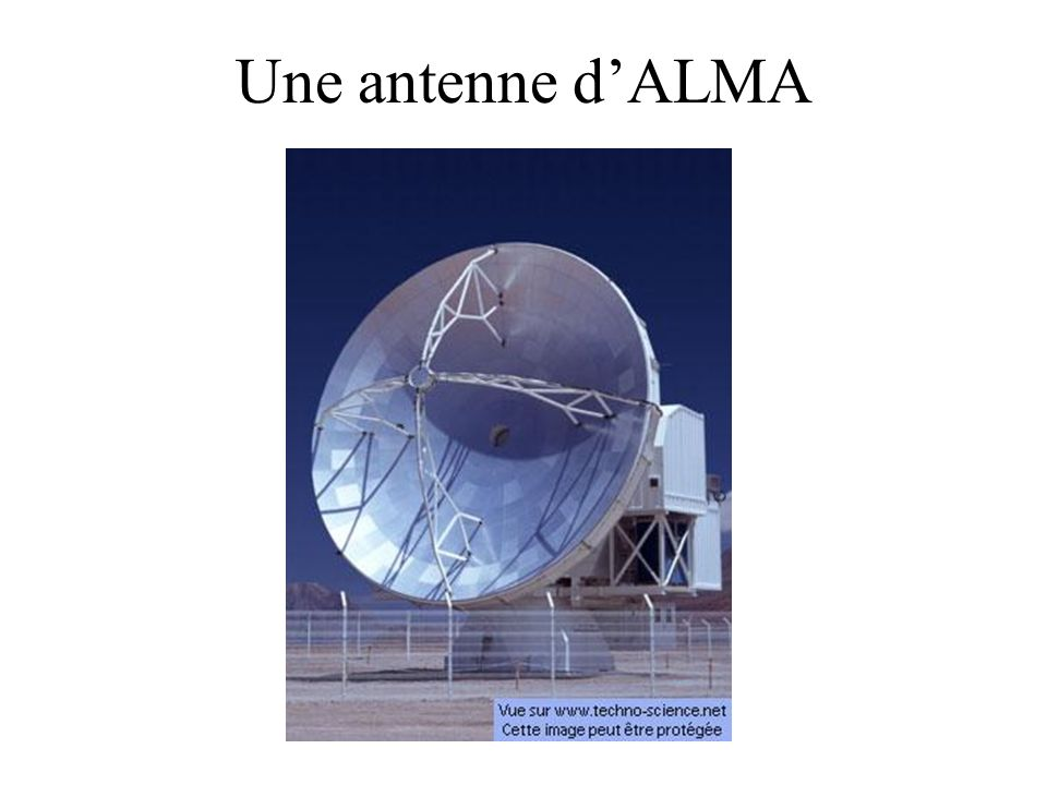 Une antenne d'ALMA