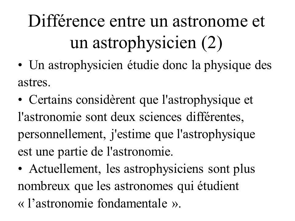 Différence entre un astronome et un astrophysicien (2)