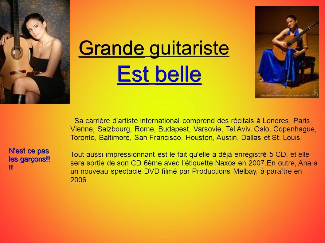 Est belle Grande guitariste