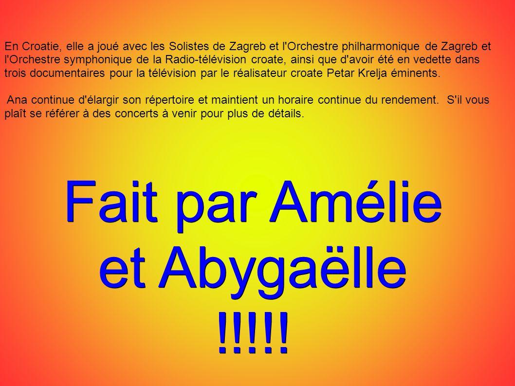 Fait par Amélie et Abygaëlle !!!!!