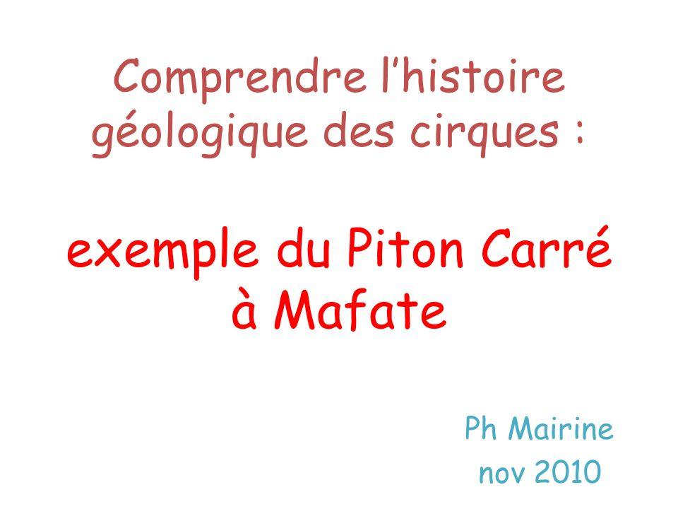 Comprendre l'histoire géologique des cirques : exemple du Piton Carré à Mafate
