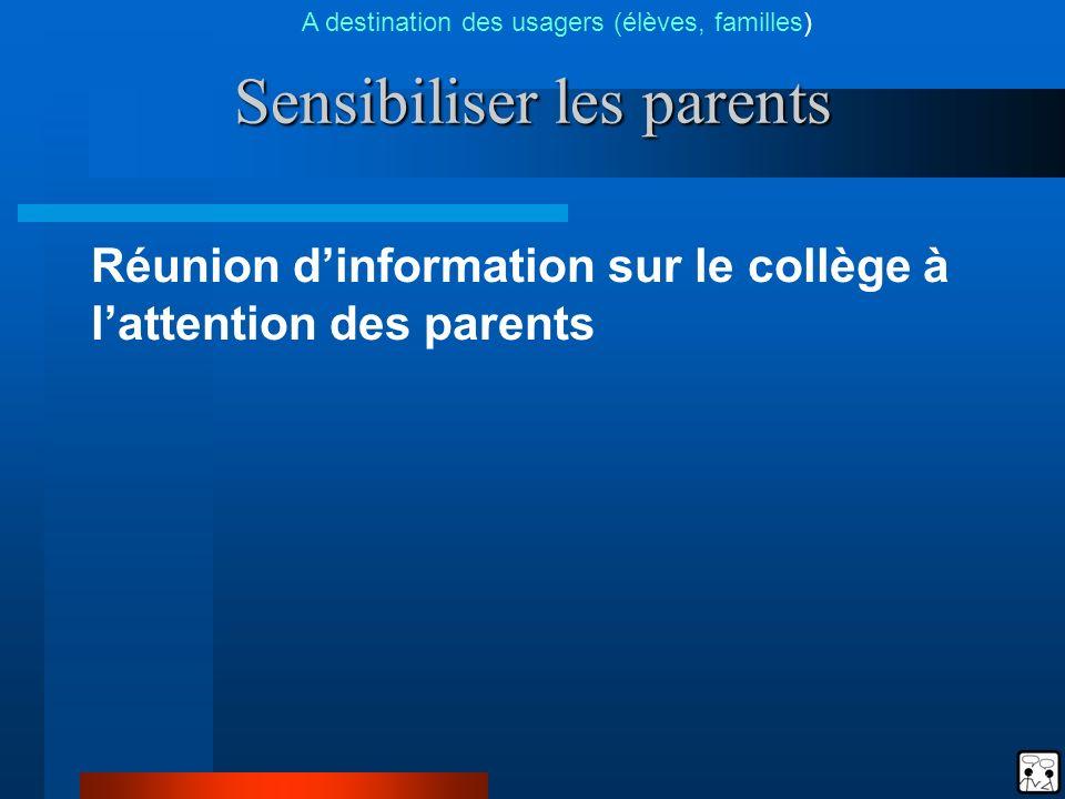 Sensibiliser les parents