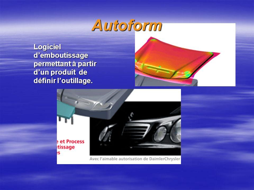 Autoform Logiciel d'emboutissage permettant à partir d'un produit de définir l'outillage.