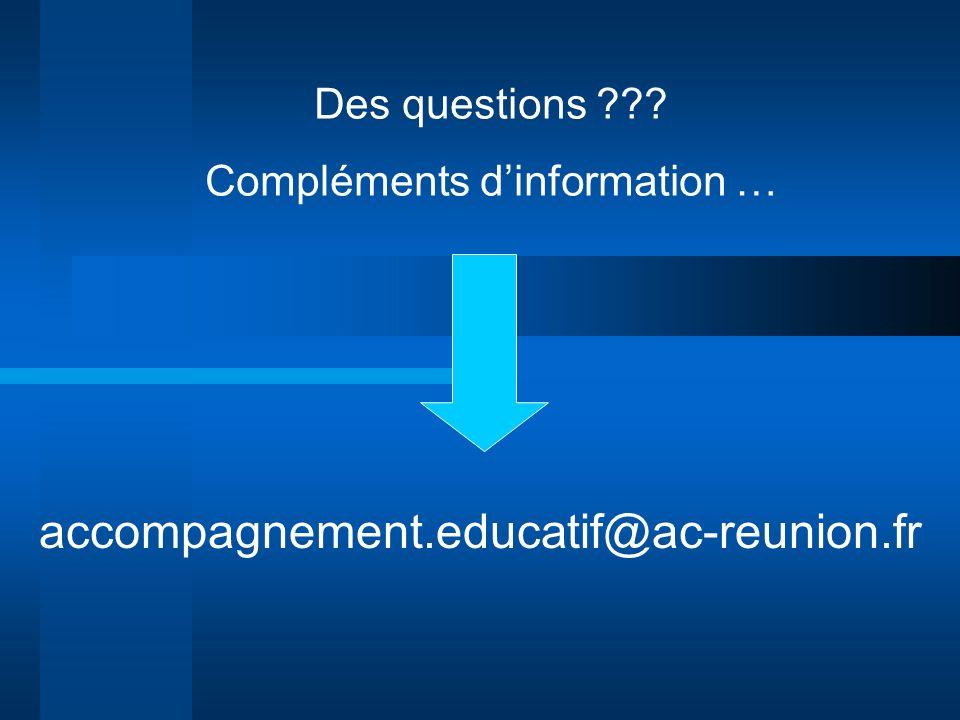 Compléments d'information …