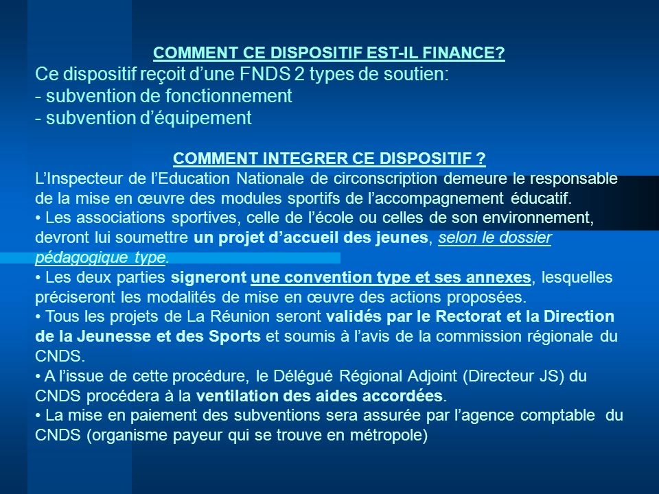 COMMENT CE DISPOSITIF EST-IL FINANCE COMMENT INTEGRER CE DISPOSITIF