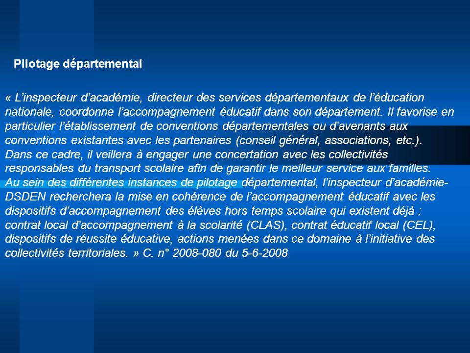 Pilotage départemental