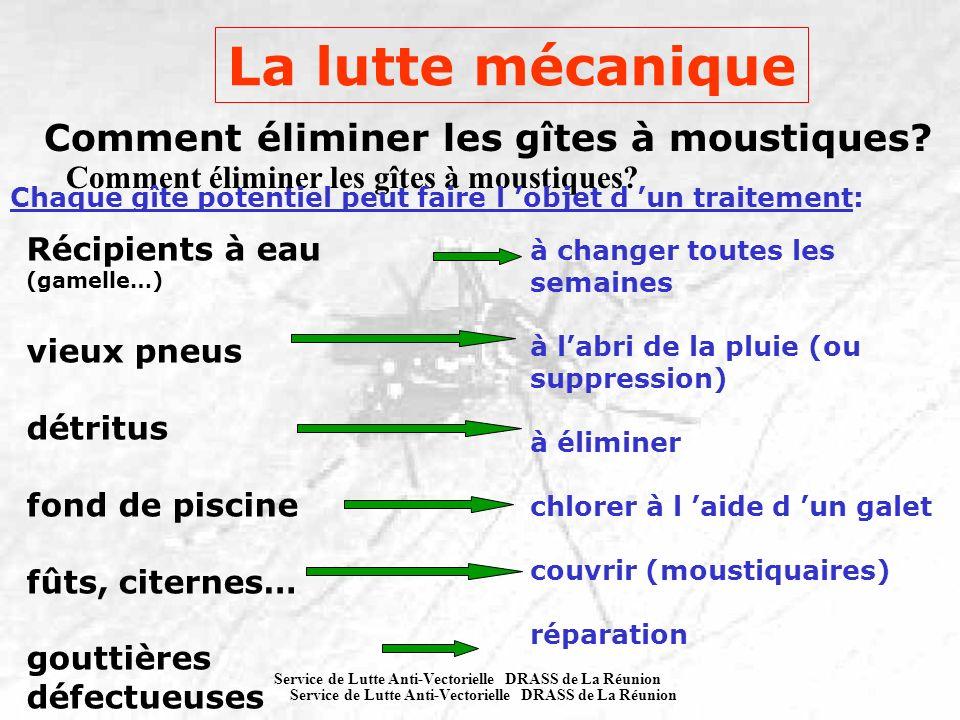 La lutte mécanique Comment éliminer les gîtes à moustiques