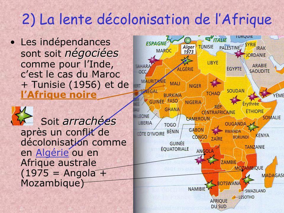 2) La lente décolonisation de l'Afrique