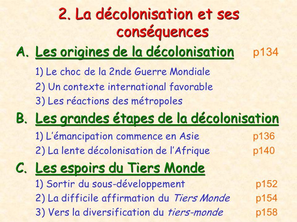 2. La décolonisation et ses conséquences