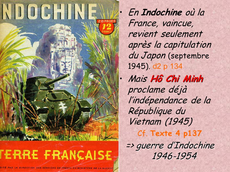 => guerre d'Indochine 1946-1954