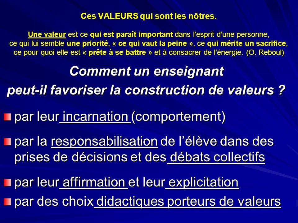 peut-il favoriser la construction de valeurs