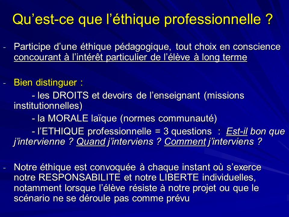 Qu'est-ce que l'éthique professionnelle