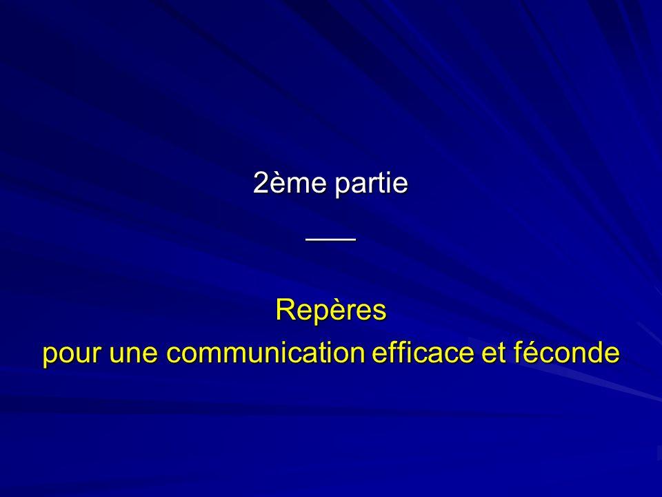 pour une communication efficace et féconde
