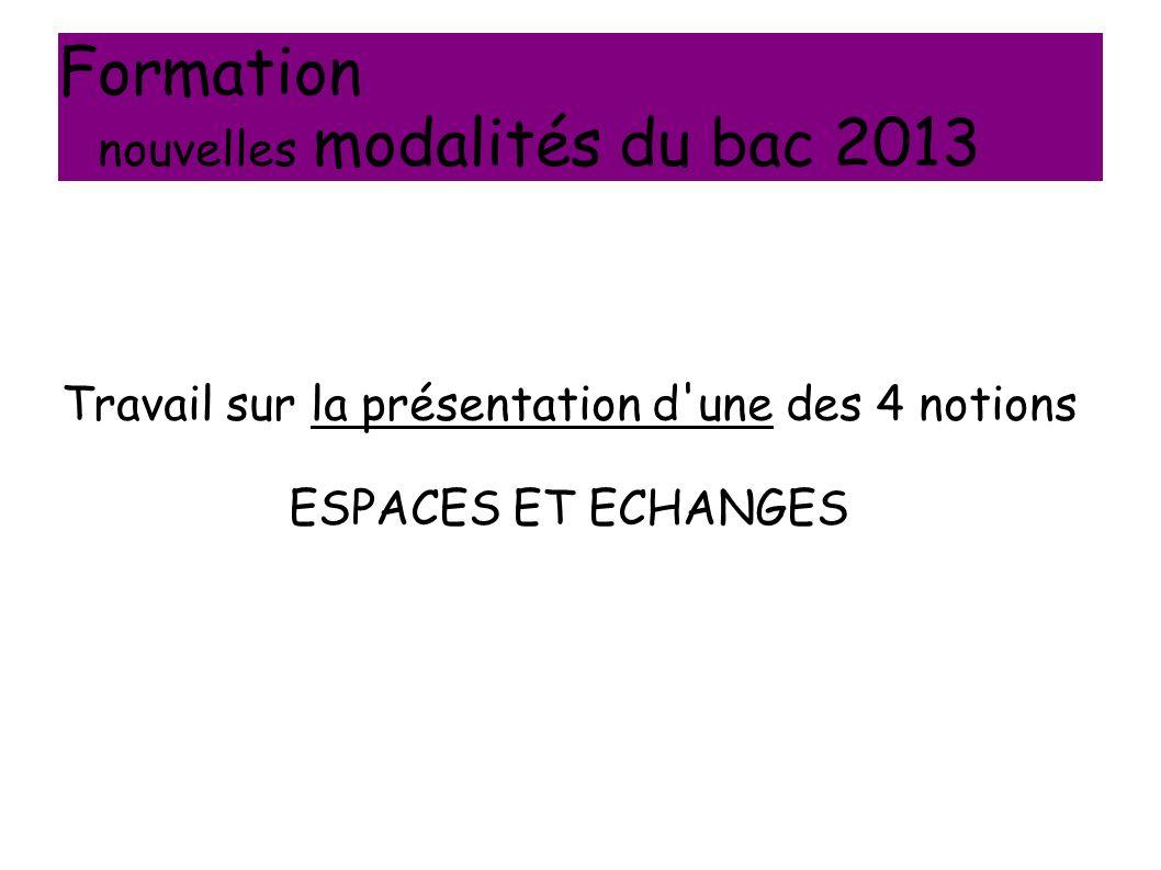 Formation nouvelles modalités du bac 2013