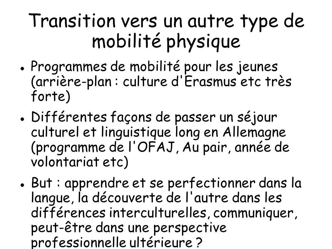 Transition vers un autre type de mobilité physique