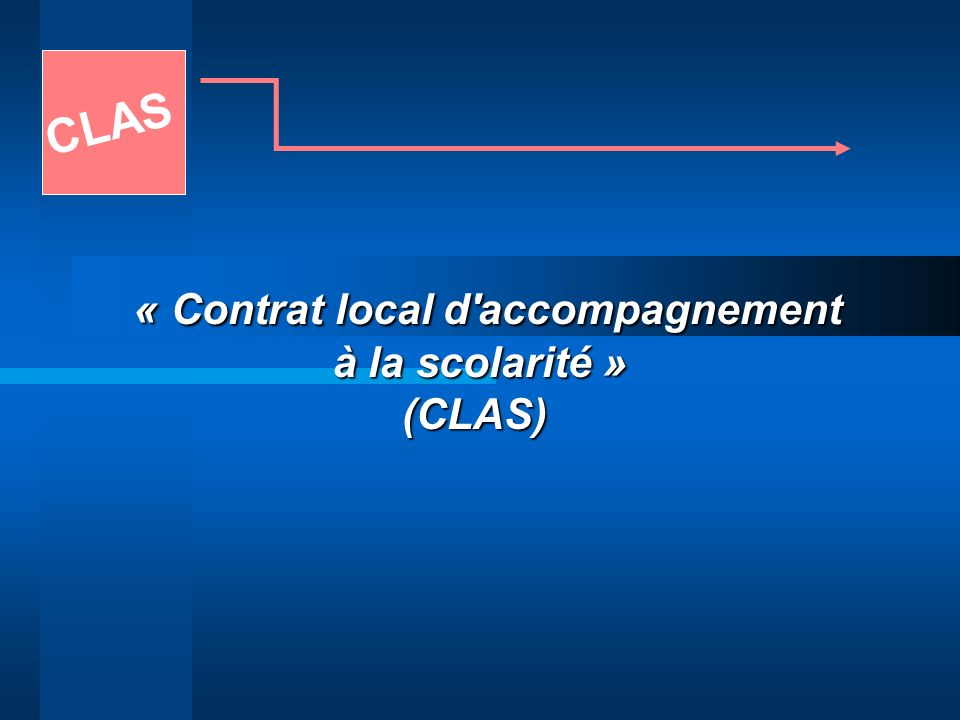 « Contrat local d accompagnement