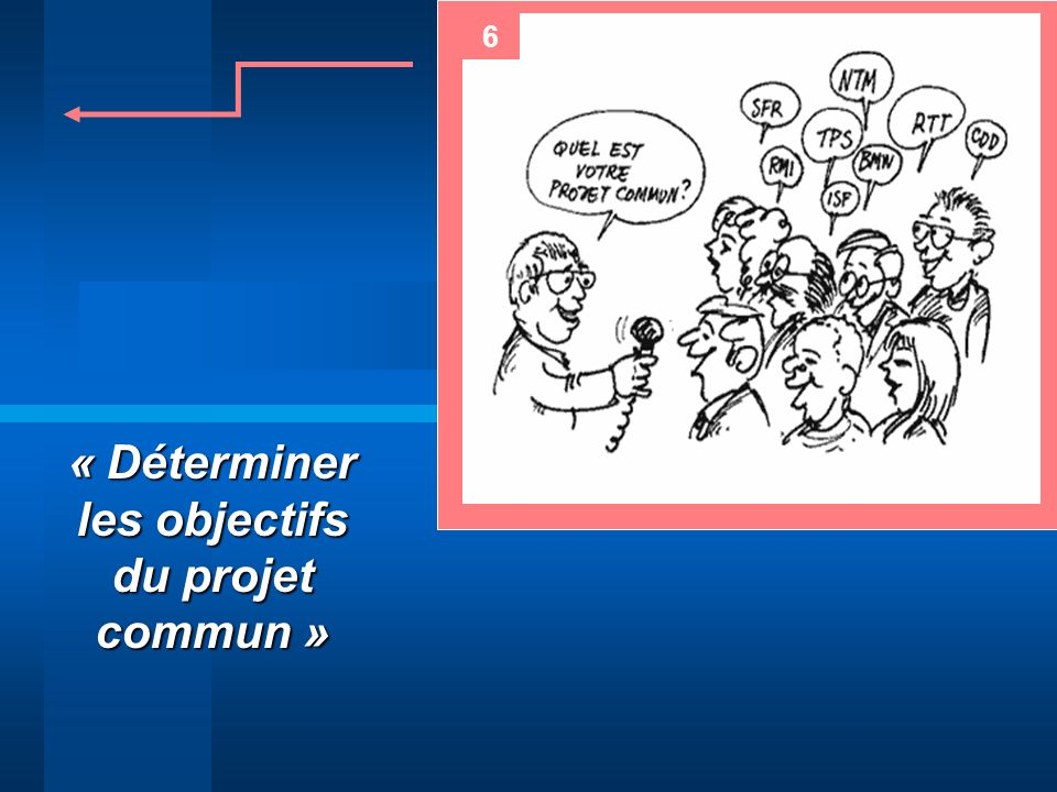 « Déterminer les objectifs du projet commun »