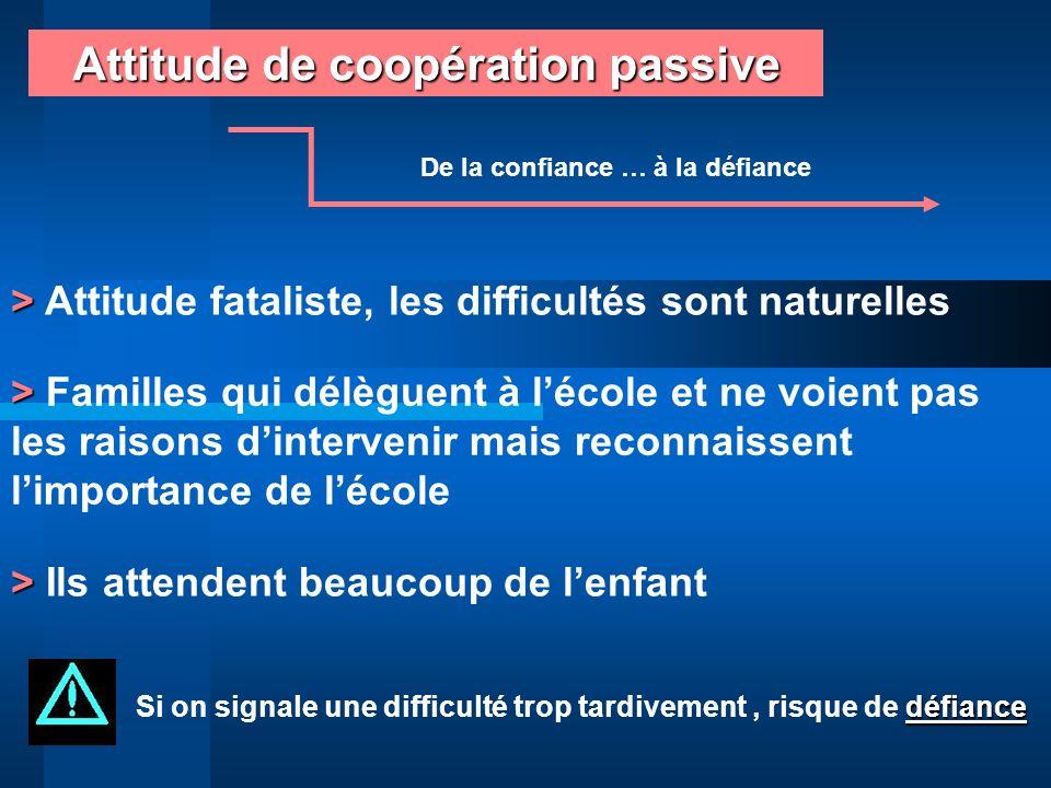 Attitude de coopération passive