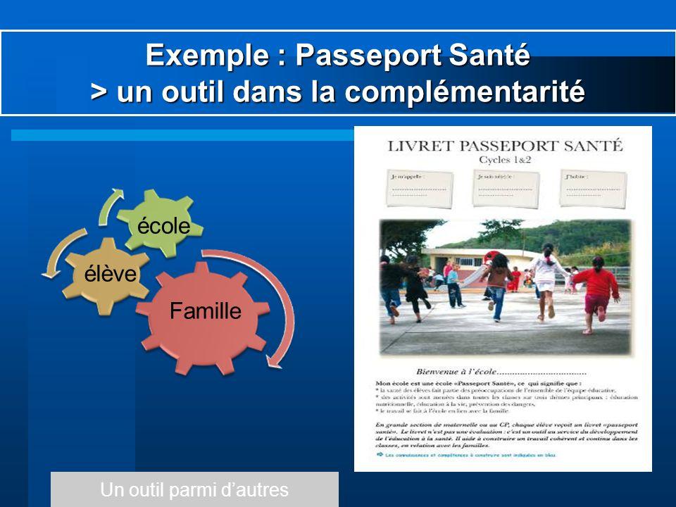 Exemple : Passeport Santé > un outil dans la complémentarité