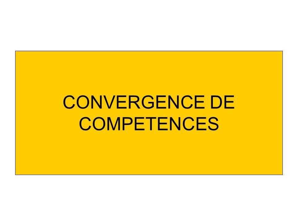 CONVERGENCE DE COMPETENCES
