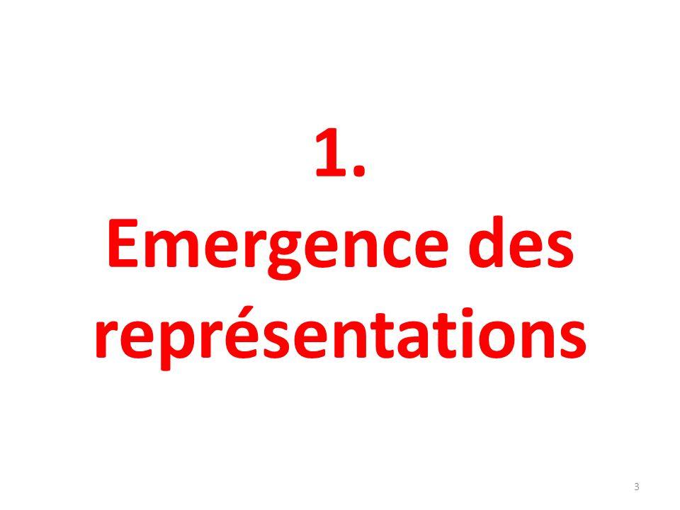1. Emergence des représentations